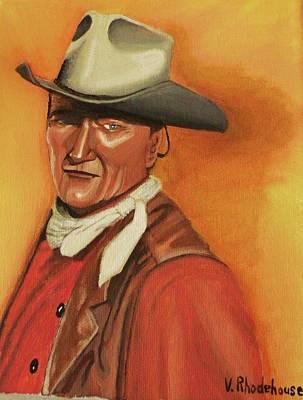 John Wayne Art Print by Victoria Rhodehouse