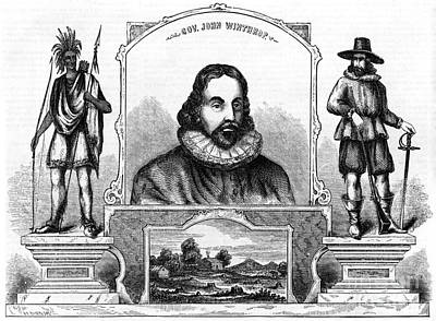 Colonial Man Photograph - John Winthrop, English Puritan Lawyer by Photo Researchers