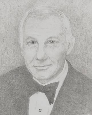 Johnny Carson Drawing - Johnny Carson by Jami Cirotti