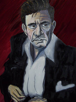 Painting - Johnny Cash by David Fossaceca