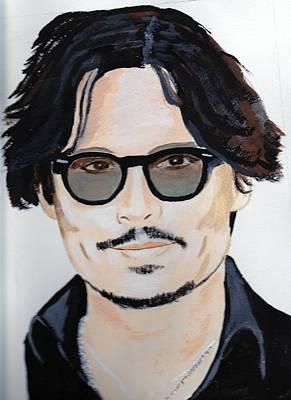 Johnny Depp 4 Art Print by Audrey Pollitt
