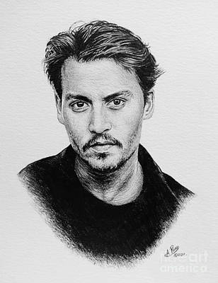 Celebrity Art Drawing - Johnny Depp by Andrew Read