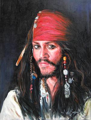 Johnny Depp Art Print by Anju Saran