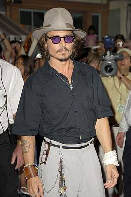 Johnny Depp Photograph - Johnny Depp At Arrivals For Pirates Of by Everett