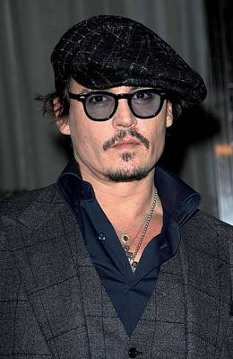 Johnny Depp At Arrivals For Playboy Art Print by Everett