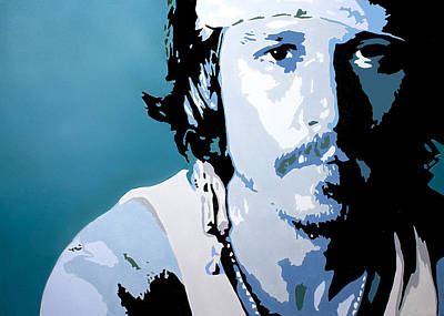 Movie Star Painting - Johnny Depp by Brittany Prichard