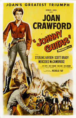 Johnny Guitar, Joan Crawford, Sterling Art Print by Everett