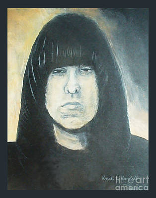 Painting - Johnny Ramone The Ramones Portrait by Kristi L Randall