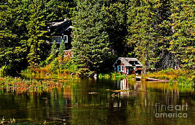 Johnny Sack Cabin II Art Print by Robert Bales