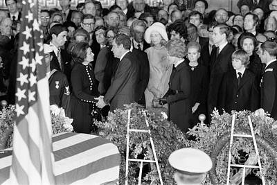Lyndon Photograph - Johnson Funeral, 1973 by Granger