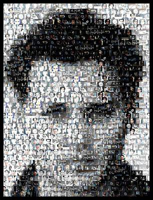Johnny Depp Mixed Media - Johynny Depp 21 Jump Street Mosaic by Paul Van Scott