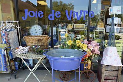 Photograph - Joie De Vivre Store Front by Carla Parris