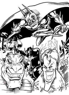 Joker Art Print by Big Mike Roate