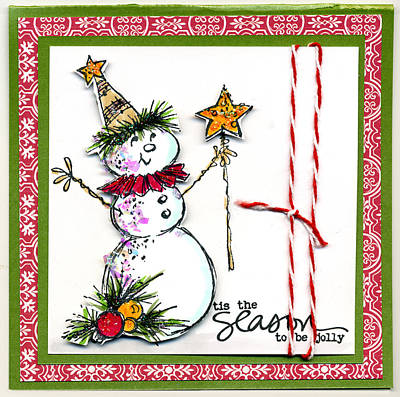 Mixed Media - Jolly Snowman by Marilyn Hunt