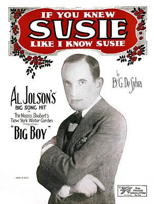 Photograph - Jolson: Sheet Music, 1925 by Granger