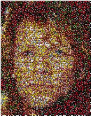 Mosaic Mixed Media - Jon Bon Jovi Mm Mosaic by Paul Van Scott