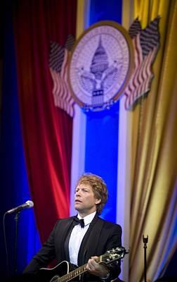 Jon Bon Jovi Performs Art Print