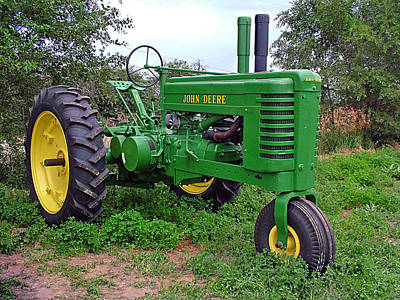 Photograph - Jon Deere Tractor by Ken Smith