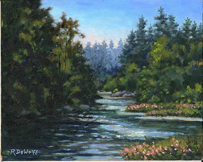 Jones' Creek Art Print by Richard De Wolfe