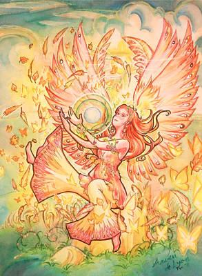 Jophiel Art Print by Arwen De Lyon