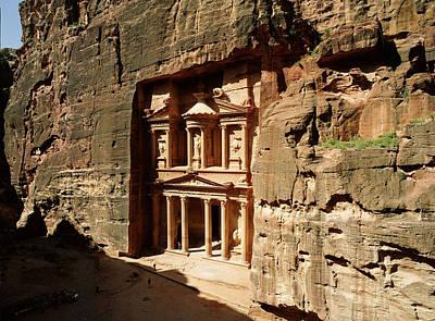 Jordan, Petra, The Treasury (al Khazna) Art Print by Jon Arnold