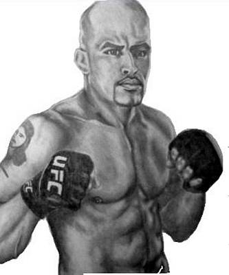 Ufc Drawing - Jorge Rivera by Audrey Snead