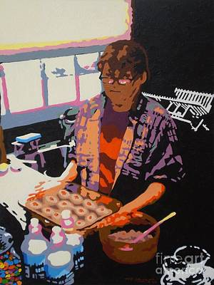 Painting - Jo's Gefilte Fish by Max Yamada