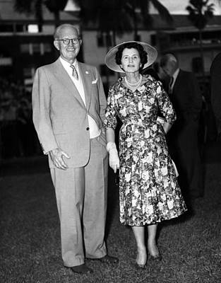 Joseph P. Kennedy And Wife Rose Art Print by Everett