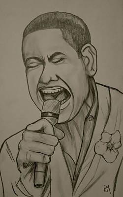 Soul Singer Drawing - Joshua Ledet by Pete Maier