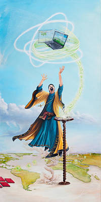 Painting - Journey Of An It Wizard by Cindy D Chinn