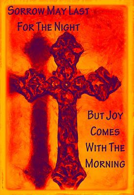 Joy Comes Art Print by Angelina Vick