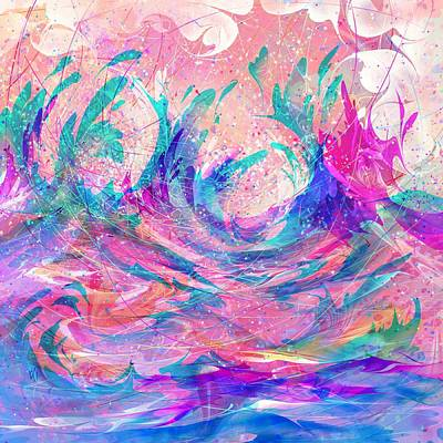 Storm Clouds Drawing - Joy Of The Storm by Rachel Christine Nowicki
