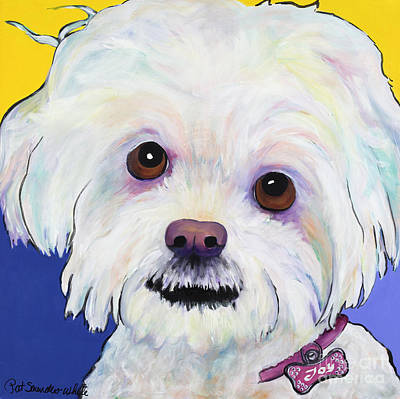 Toy Breeds Painting - Joy by Pat Saunders-White