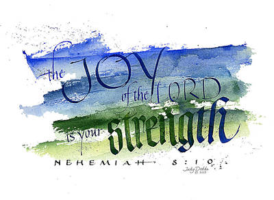 Joy Strength I Art Print by Judy Dodds