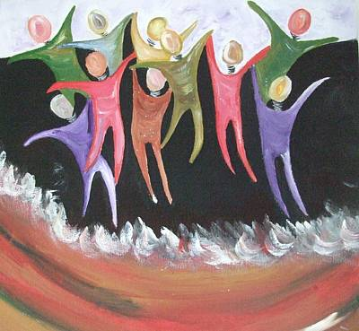 Joy Unspeakable Art Print by Freda Lade-Ajumobi