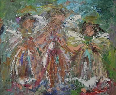 Joyful Chorus Art Print by Kathy  Cuiffi