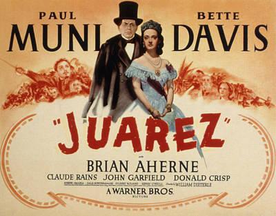 Posth Photograph - Juarez, Paul Muni, Bette Davis, 1939 by Everett