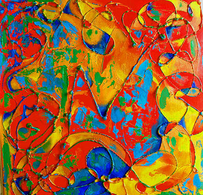 Pollack Painting - Jubilant by Susi Franco
