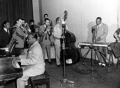 Basie Photograph - Jubilee Broadcast To Us Troops by Everett