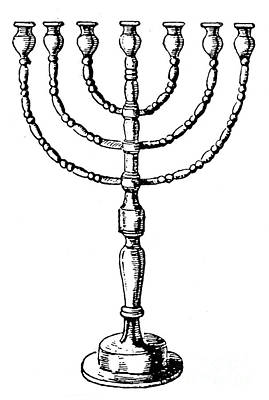 Judaica Photograph - Judaism: Menorah by Granger