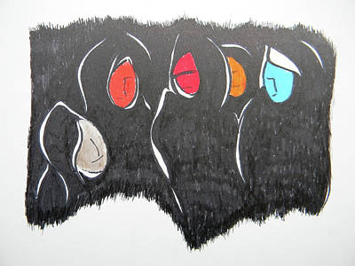 Inuit Drawing - Judgement Day by Marwan George Khoury