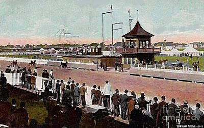 Painting - Judges' Stand At The Finish In Rochester N H In 1910 by Dwight Goss