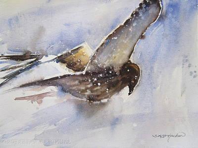 Painting - Jukka The Osprey by Sandra Strohschein
