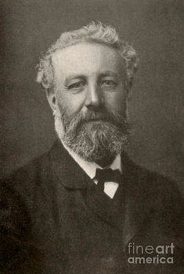 Jules Verne, French Author Art Print by Photo Researchers