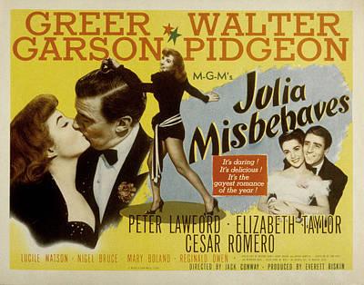 Julia Misbehaves, Greer Garson, Walter Print by Everett