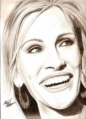 Julia Roberts Art Print by Michael Mestas
