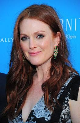 Diamond Earrings Photograph - Julianne Moore At Arrivals For The Kids by Everett