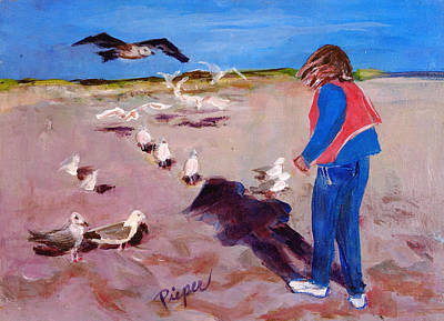 Painting - Julie On The Cape by Elzbieta Zemaitis