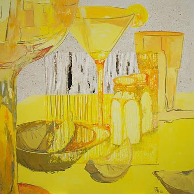 Lemon Drops Painting - Julie's Lemon Drop by Pascale Lord