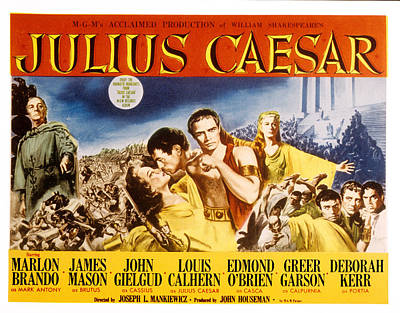 Julius Caesar, Louis Calhern, Greer Print by Everett